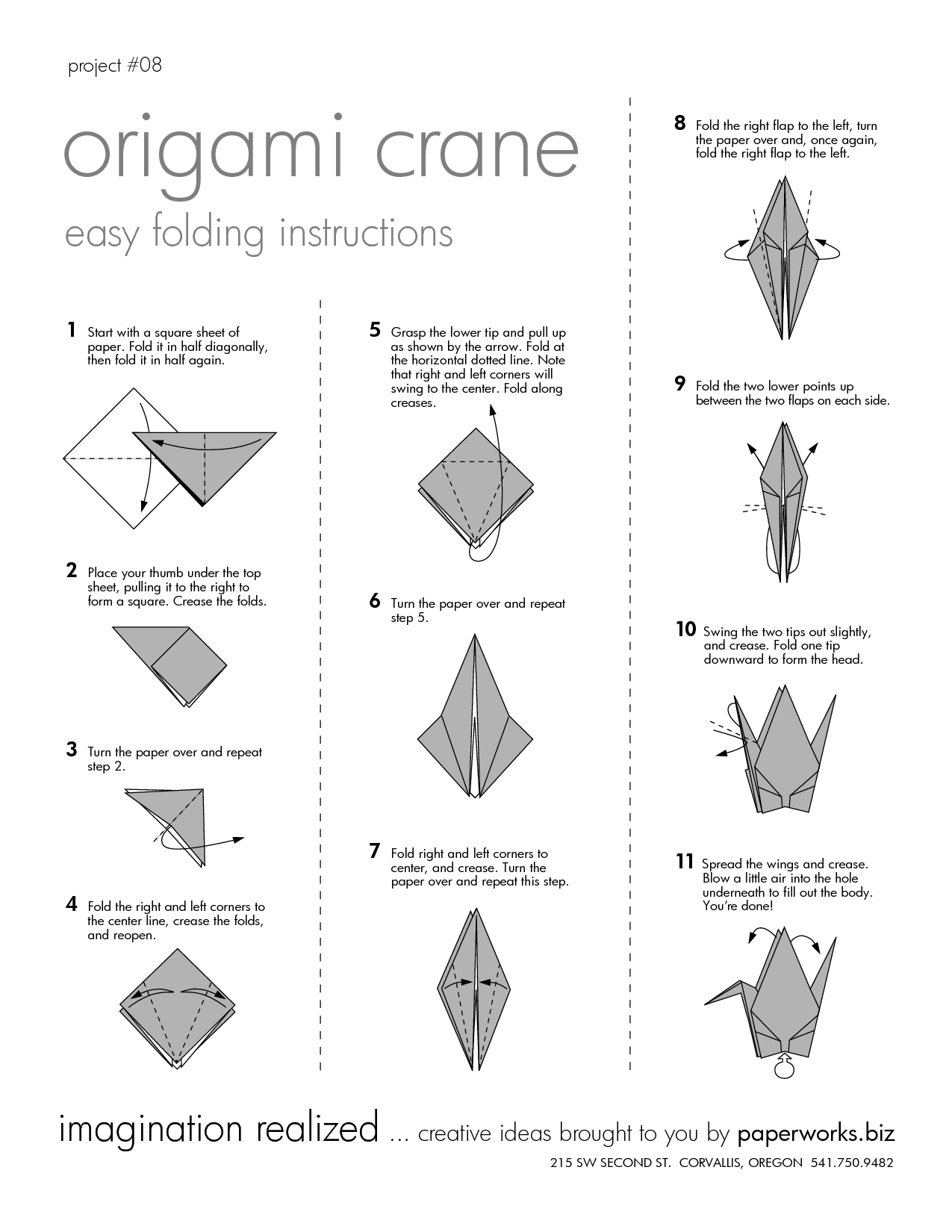 origami paper crane The ultimate website for anything and everything related to paper folding learn how to make origami with free instructions, videos, diagrams & more.